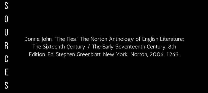 Analysis of John Donne's The Flea (sources)