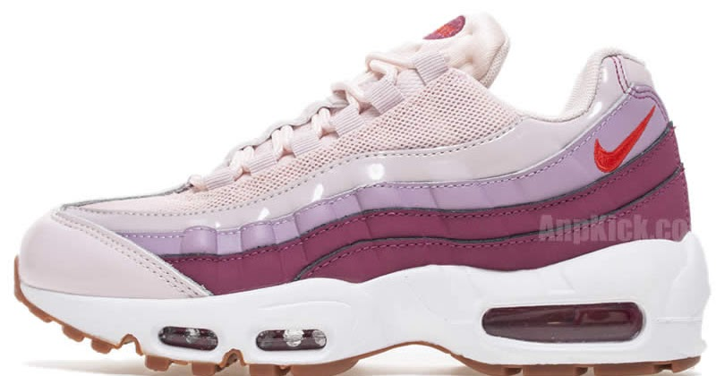 new style 81a87 7dbdf AnpKick Brand Street Footwear Nike Air Max 95 OG Womens Barley Rose Hot  Punch Pink 307960-603