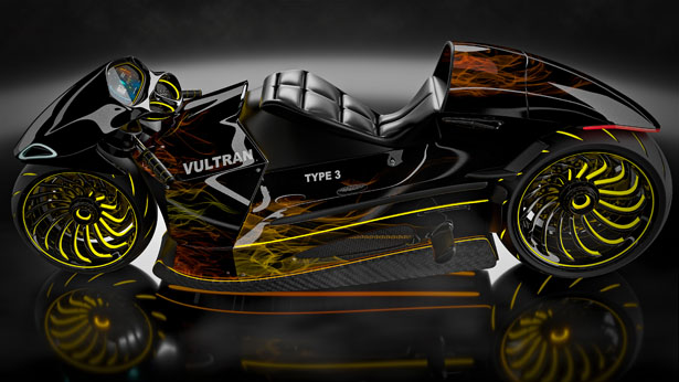 See The New Vultran Type 3 Electric Concept Motorcycle Which Was
