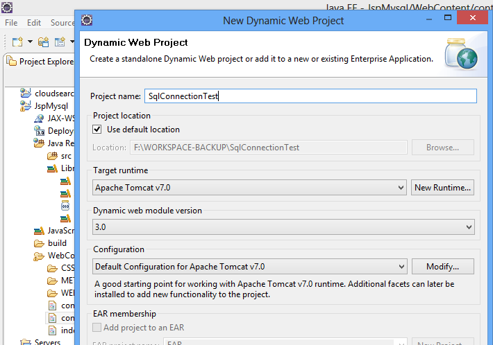 How To Connect Jsp And Mysql Using Eclipse - scriptcrunch