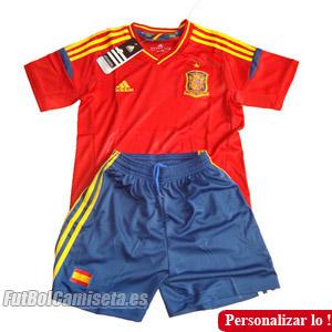 Consigue la segunda equipación de España para los pequeños aficionados a la  actual campeona de Europa y el Mundo. Camiseta oficial de Adidas ad819f728895e