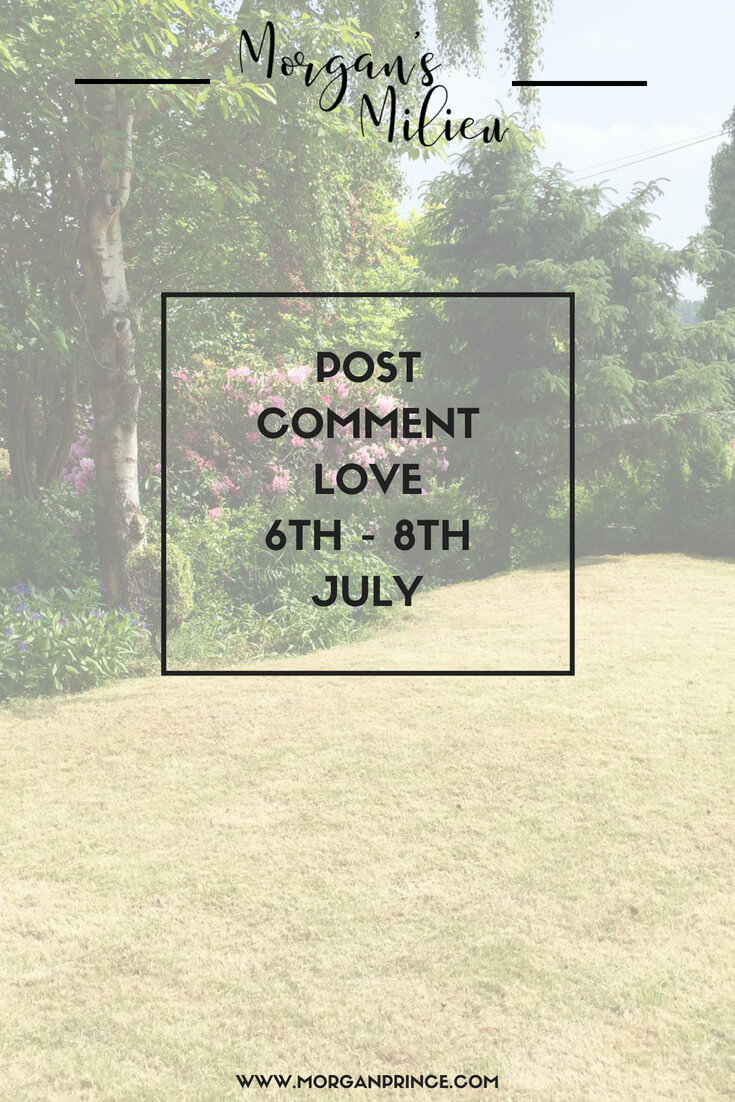 Join in with Post Comment Love during 6th - 8th July with Stephanie and I. We'd love to see you link up.