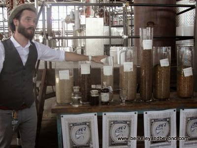 absinthe ingredients at St. George Spirits in Alameda, California
