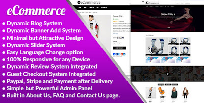 Ecommerce php script for ecommerce website