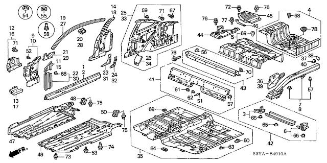 Part Number: 91503-SZ3-003: Bumper Clips for Honda & Acura