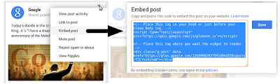 How to Embed Google+ Posts