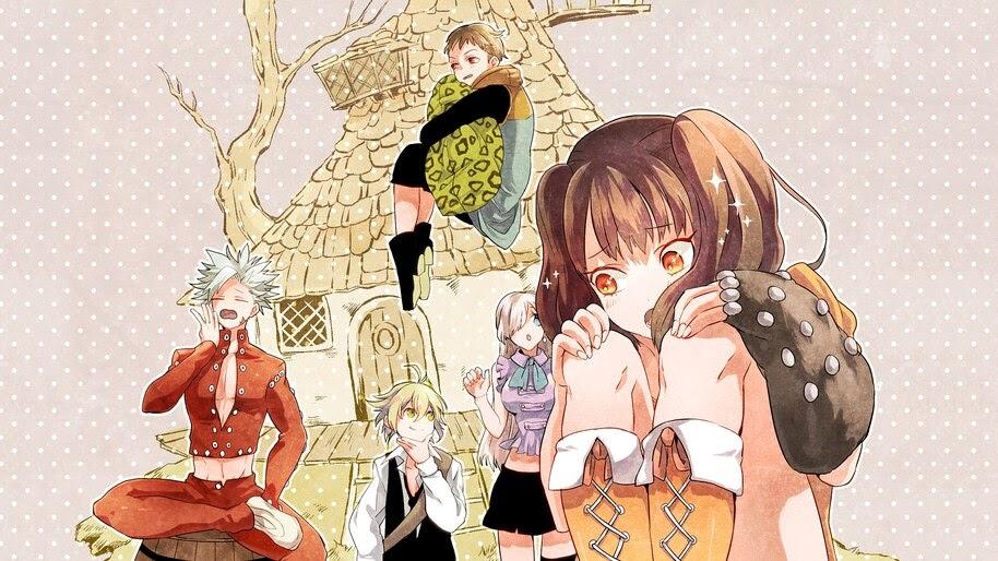 Nanatsu no Taizai, Ban, Meliodas, Elizabeth, Diane, King, 4K, #4.1234
