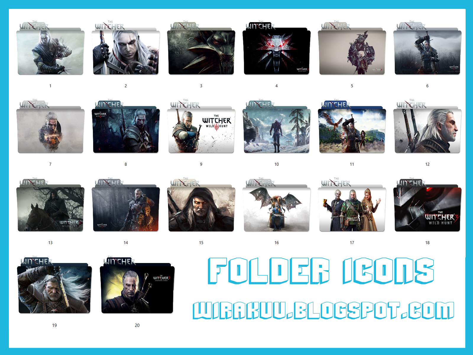 20 Folder Icons Game The Witcher (Windows 7, 8, 10)