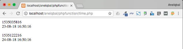 php time