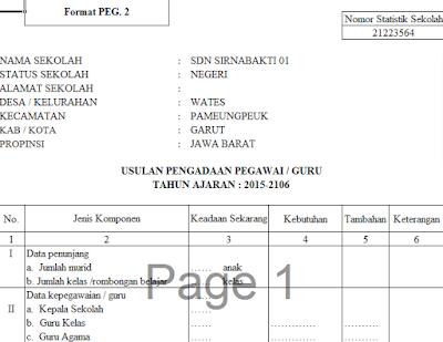 Aplikasi Administrasi Kepala Sekolah Kepegawaian Guru Berbasis Excel