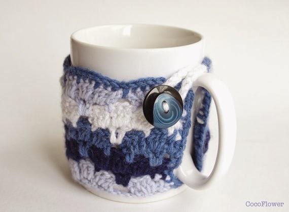 cozy mug blue wool gradient by Cocoflower