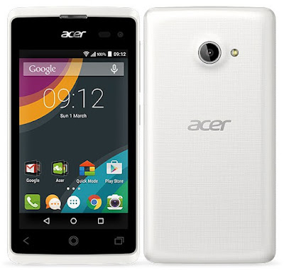 Acer Liquid Z220 Specifications - LAUNCH Announced 2015, March  Available as Acer Liquid Z220 Duo with Dual-SIM card slot DISPLAY Type Capacitive touchscreen Size 4.0 inches (~56.8% screen-to-body ratio) Resolution 480 x 800 pixels (~233 ppi pixel density) Multitouch Yes BODY Dimensions 125.3 x 64 x 9.6 mm (4.93 x 2.52 x 0.38 in) Weight 120 g (4.23 oz) SIM Single SIM (Mini-SIM) or Dual SIM (Mini-SIM/Micro-SIM, dual stand-by) PLATFORM OS Android OS, v5.0 (Lollipop) CPU Dual-core 1.2 GHz Cortex-A7 Chipset Qualcomm Snapdragon 200 GPU Adreno 302 MEMORY Card slot microSD, up to 32 GB (dedicated slot) Internal 8 GB, 1 GB RAM CAMERA Primary 5 MP, autofocus, LED flash Secondary 2 MP Features Yes Video Yes NETWORK Technology GSM / HSPA 2G bands GSM 850 / 900 / 1800 / 1900 - SIM 1 & SIM 2 (dual-SIM model only) 3G bands HSDPA 900 / 2100    HSDPA 850 / 1900  HSDPA 850 / 1700(AWS) Speed HSPA GPRS Yes EDGE Yes COMMS WLAN Wi-Fi 802.11 b/g/n, hotspot GPS Yes, with A-GPS USB microUSB v2.0 Radio  Bluetooth v4.0, A2DP FEATURES Sensors Accelerometer Messaging SMS (threaded view), MMS, Email, Push Email Browser HTML Java No SOUND Alert types Vibration; MP3, WAV ringtones Loudspeaker Yes 3.5mm jack Yes BATTERY  Removable Li-Ion 1300 mAh battery Stand-by  Talk time  Music play  MISC Colors Black, White  - MP3/WAV/AAC player - MP4/H.264 player - Photo viewer/editor - Voice memo/dial