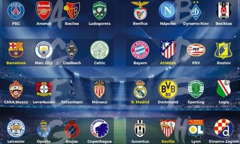 Hasil drawing fase grup Liga Champions 2016-17