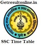 Maharashtra Board SSC Time Table 2016