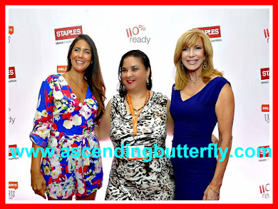 Left: Jaime Primak Sullivan of #cawfeetawk and Bravo TV's Jersey Belle, Center: ME!, Right: TV Personality Leeza Gibbons!