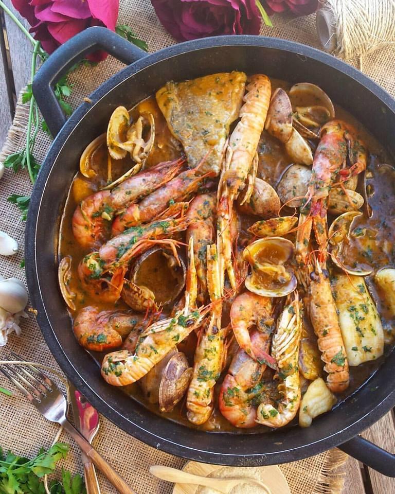 Zarzuela de pescado y marisco for Canelones de pescado y marisco