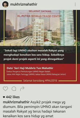 Mukhriz Madey Masih Menggunakan Jawatan² Dalam UMNO? #PAU2016