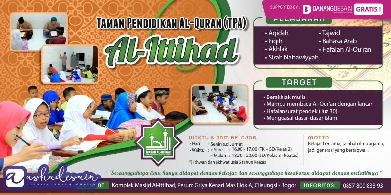 Contoh Desain Banner Spanduk Download Taman Pendidikan Al