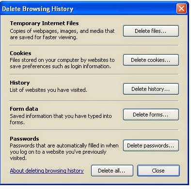 Washing stored private data