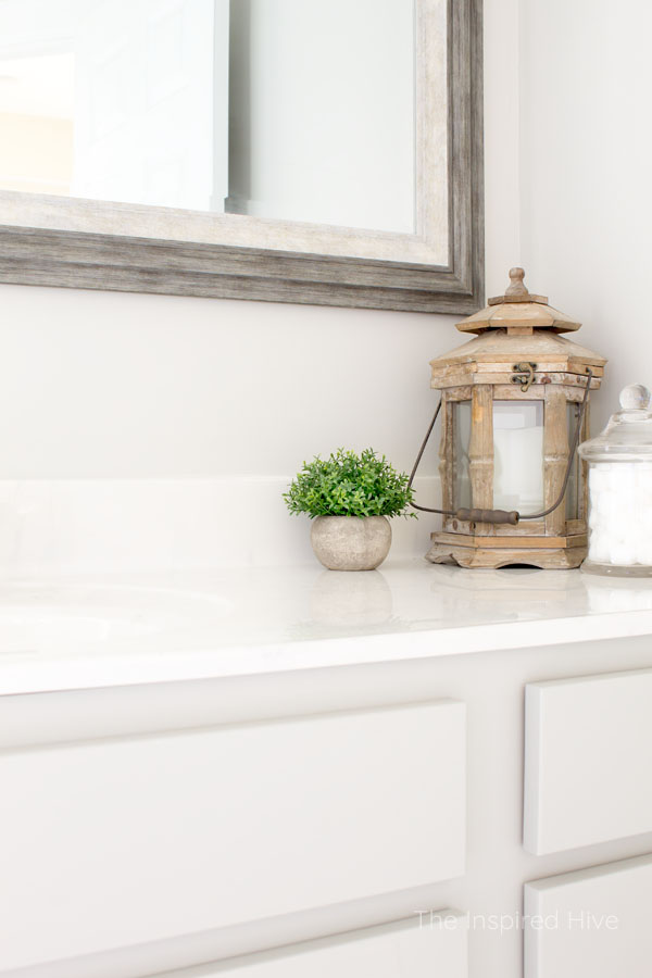 Farmhouse style master bathroom makeover.