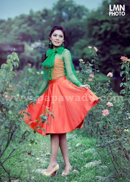 Myanmar Model May For Fashion Magazine Photoshoot