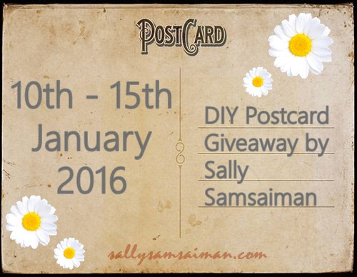 """DIY Postcard Giveaway by Sally Samsaiman"""