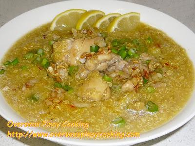 Quinoa Pinoy Arroz Caldo Style