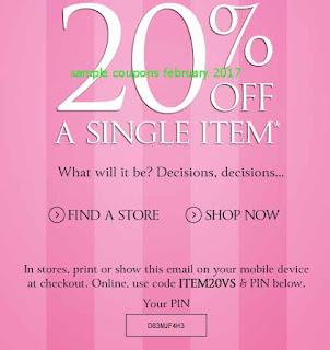 Victoria's Secret coupons february 2017