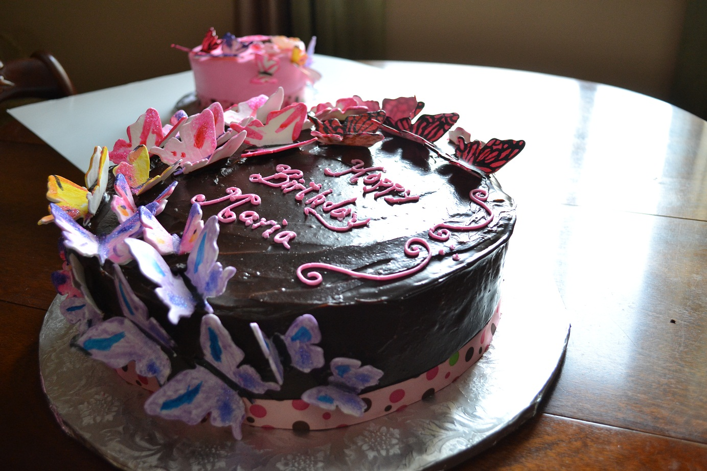 Kitchen Bliss Maria S 1st Birthday Cake With Gum Paste