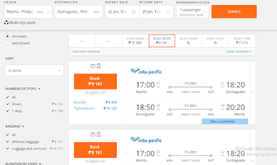 Manila to Dumaguete Round-Trip for just Php9,161