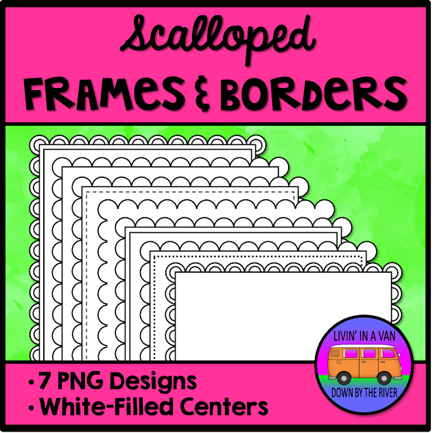 SCALLOPED FRAMES, SCALLOPED BORDERS, FRAMES AND BORDERS