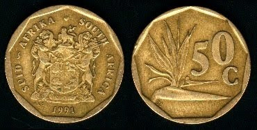 South Africa 50 Cents (1990-1995) 1994