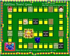 Smartboard's Interactive Math Game - Basic Addition Board Game (notebook file)