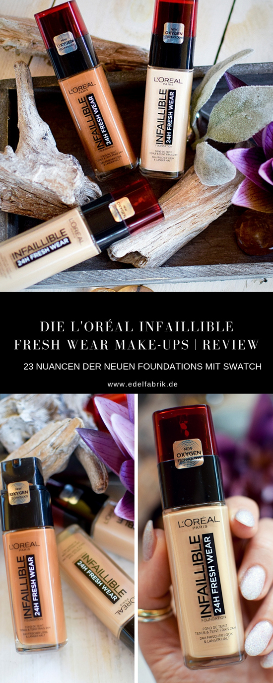 Review und Swatches der neuen L'Oréal Infaillible 24h Fresh Wear Foundation