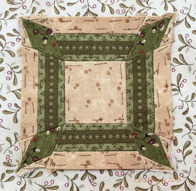 Dear Jane Quilt - Block F10 Potholder