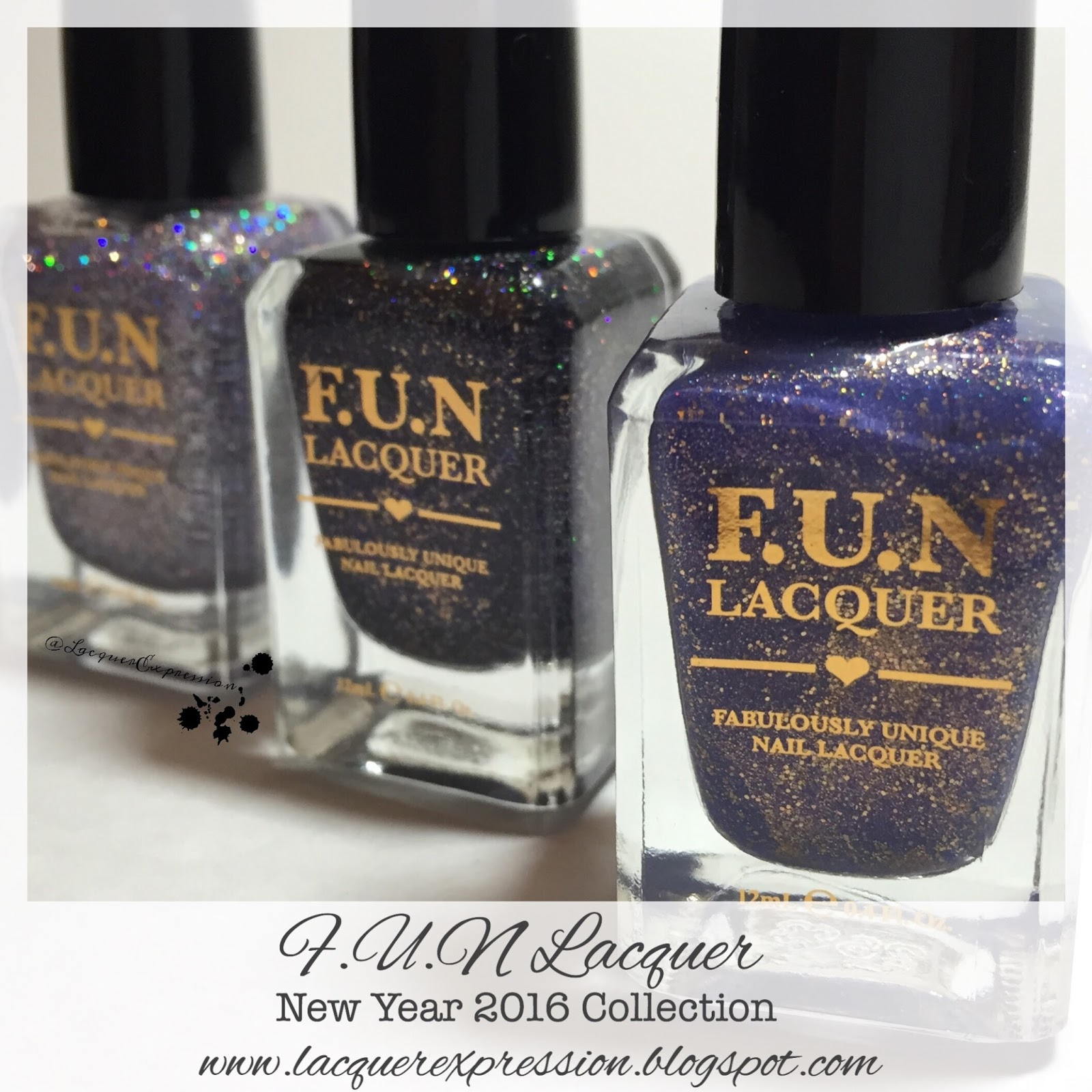 Indie Swatch and Review - New Year 2016 Collection by F.U.N Lacquer ...