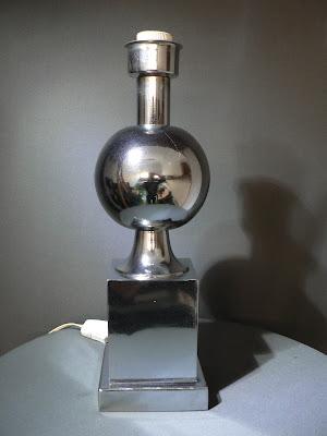 PIE DE LAMPARA DE MESA CROMADA AÑOS 70