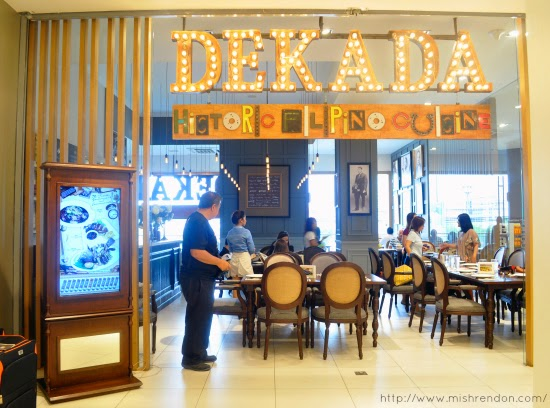 Dekada Historic Filipino Cuisine at Fairview Terraces