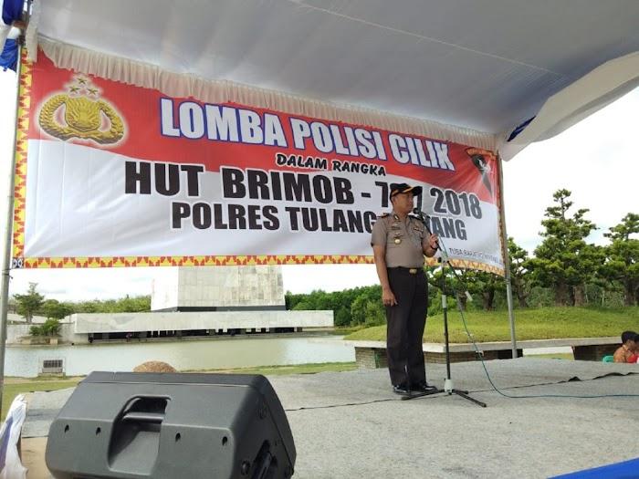 Polres Tulang Bawang Adakan Lomba Polisi Cilik Memeriahkan HUT Brimob ke-73