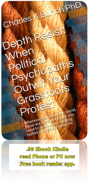 Depth Resist: When Political Psychopaths Outwit Your Grassroots Protest Wherever you are in the world, these are the 6 principles you need to stand up to stealing bullies and reclaim your life  .99 Protest Resist Guide Book Released