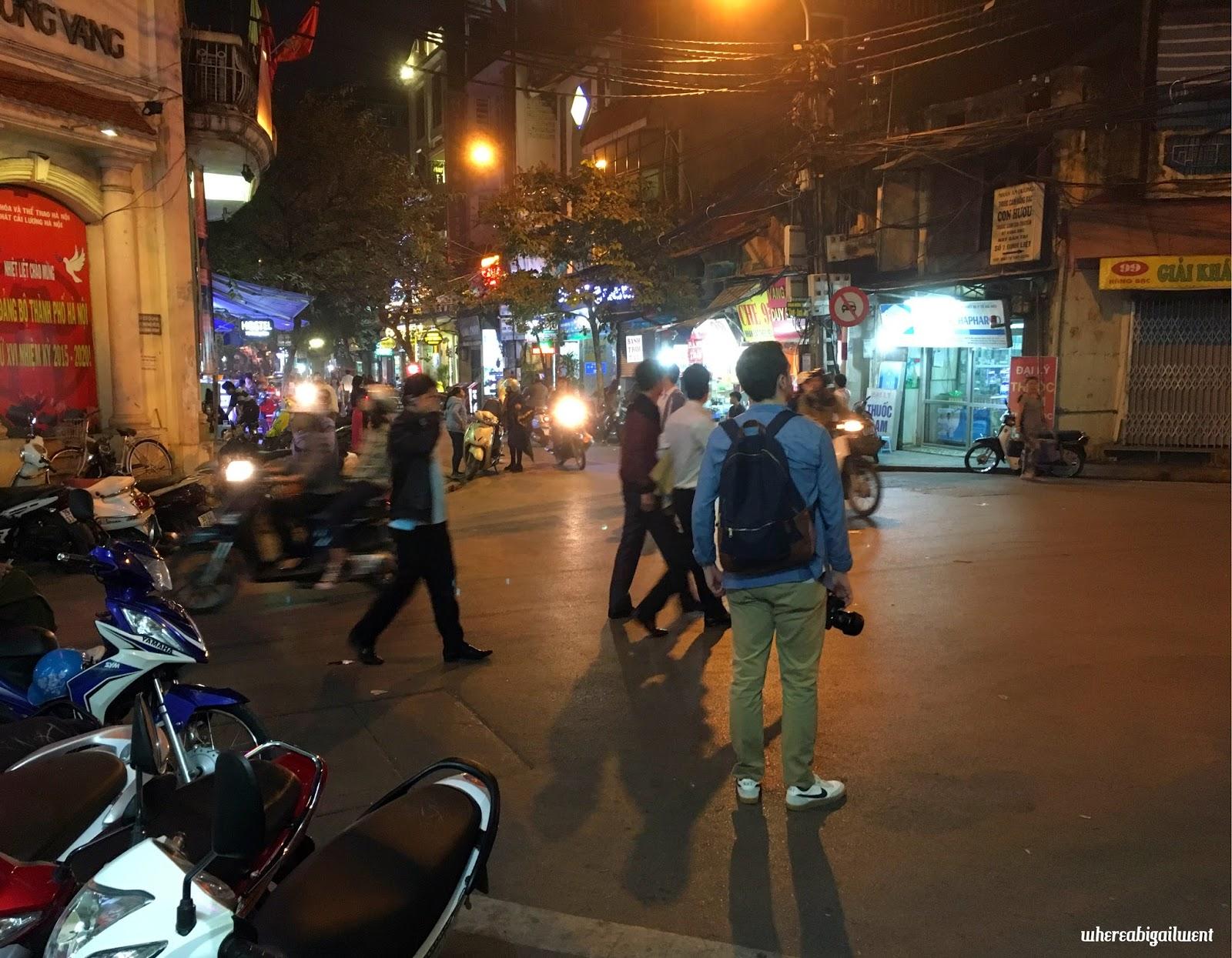 Street in Old Quarter Hanoi