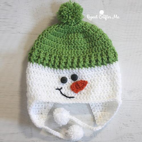 Crochet Snowman Hat - Free Pattern