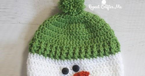 Beautiful Skills Crochet Knitting Quilting Crochet Snowman Hat