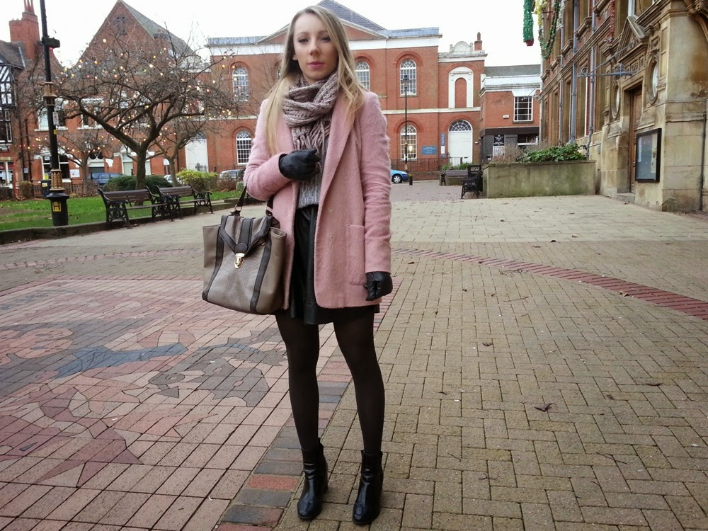 fashion life style blog winter ootd pink coat. Black Bedroom Furniture Sets. Home Design Ideas