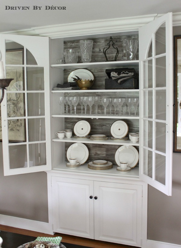Decorate China Cabinet Ideas Shabby Chic