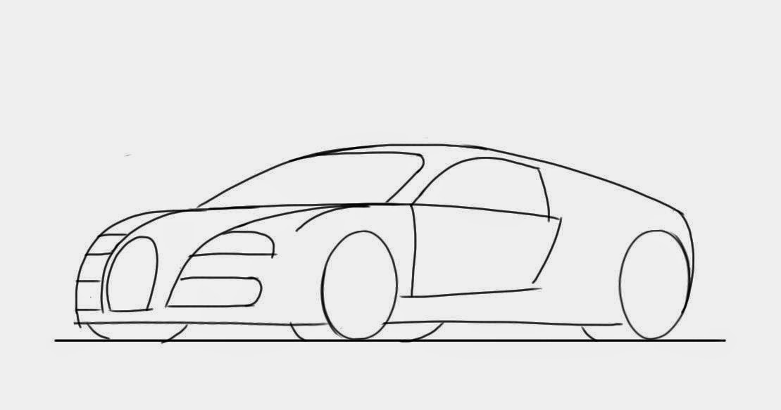 Affordable Simple Cool Drawings By A Weak Pencil Line Draw The Outline Of With Car Drawing