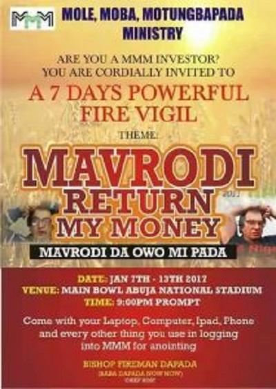 Abuja Pastor Takes Advantage Of MMM 'Mugus', Organises Prayers For Them; See Photo