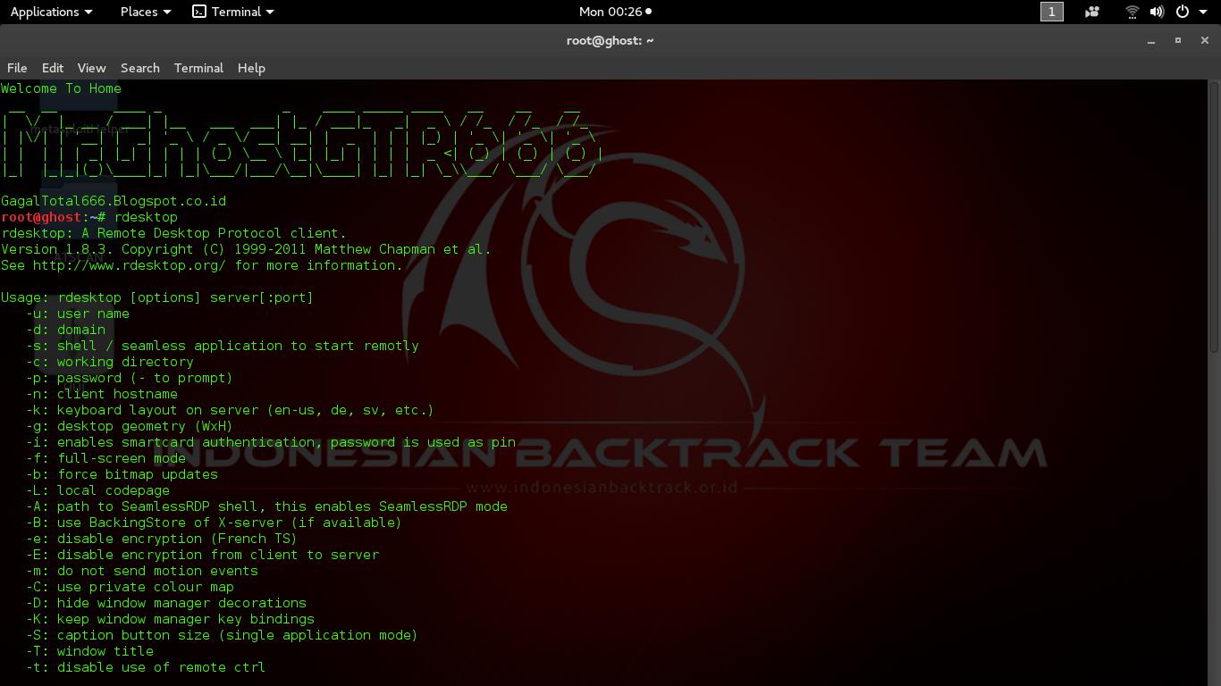 Cara Simple Remote Desktop menggunakan Rdesktop di linux - GagalTotal666