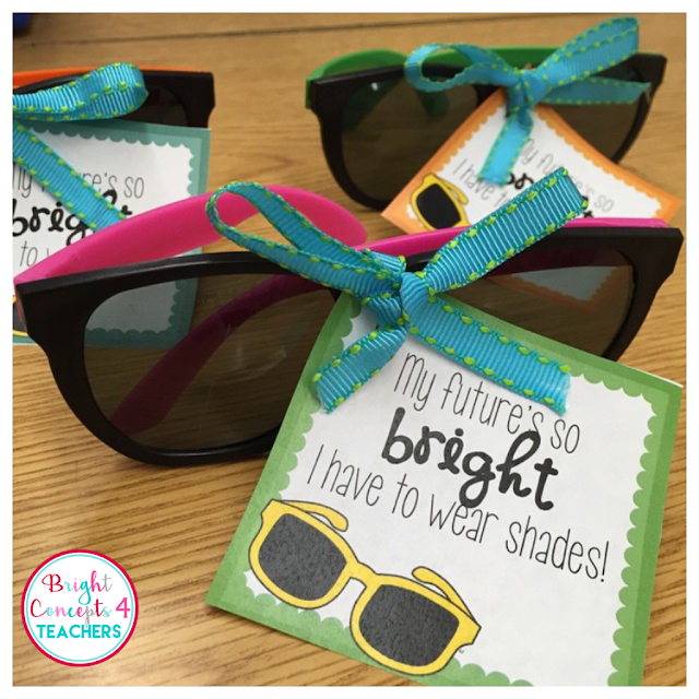 My students love receive these sunglasses and gift tags for Open House each year.