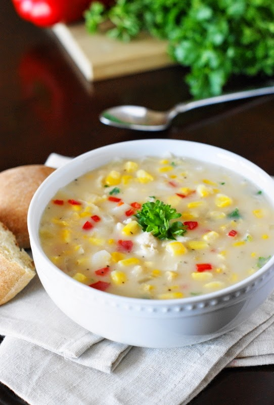 Chicken Corn Chowder   www.thekitchenismyplayground.com
